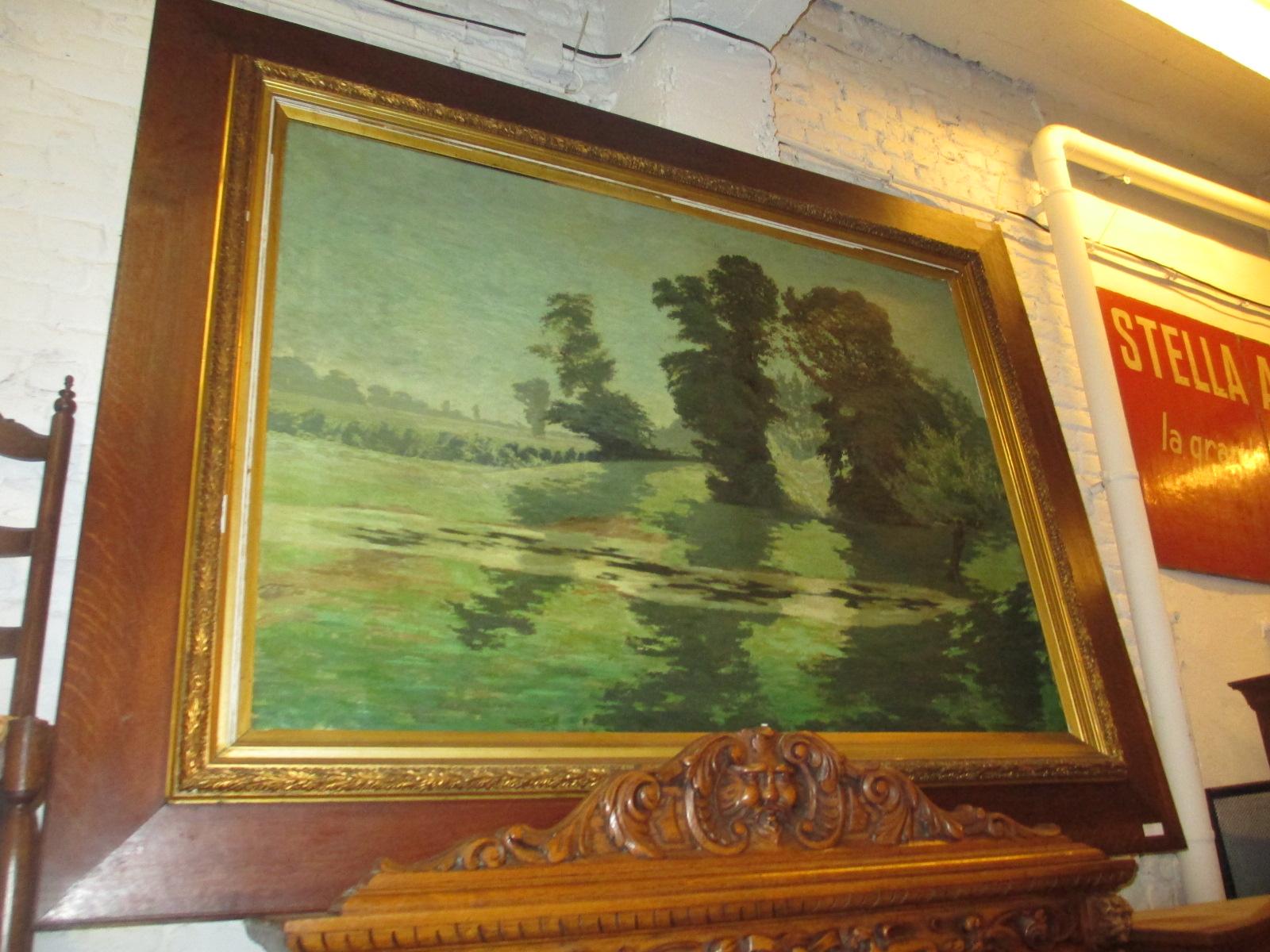 grand tableau signé Eugène smits Image