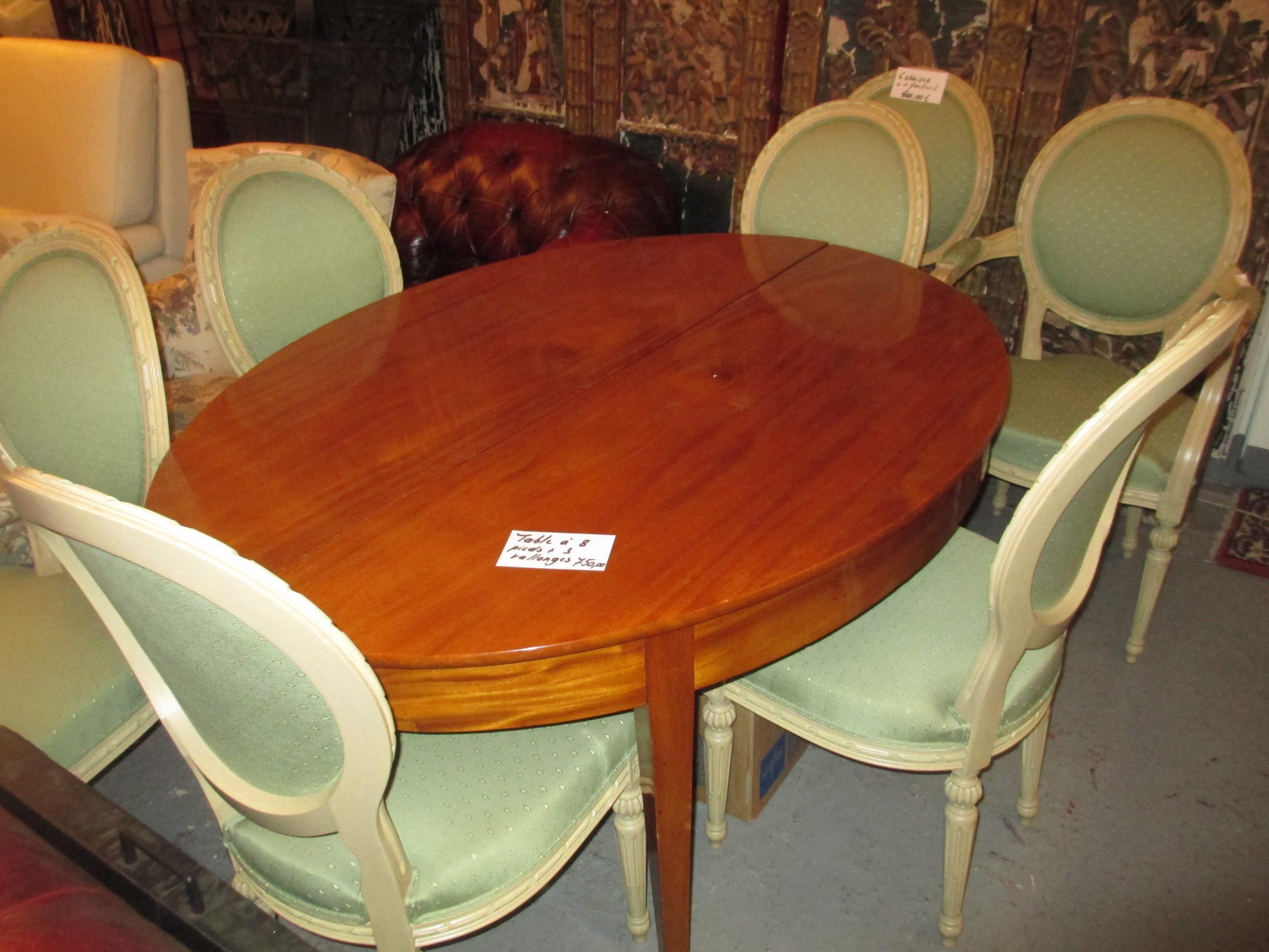 Table mérisier à 8 pieds avec 3 rallonges Image