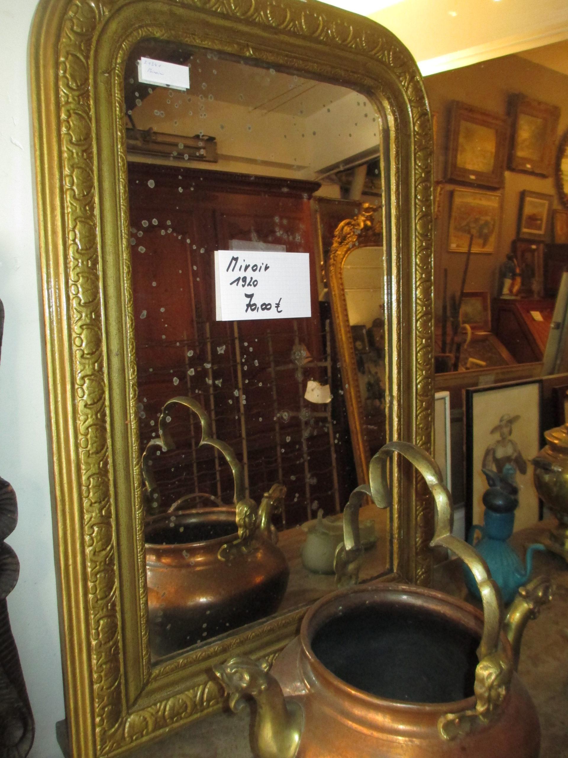 Miroir doré 1920 Image